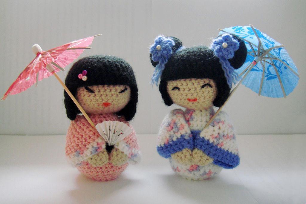 амигуруми кукла Кокеши
