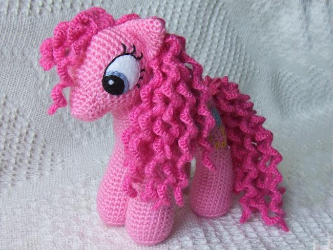 амигуруми розовая пони