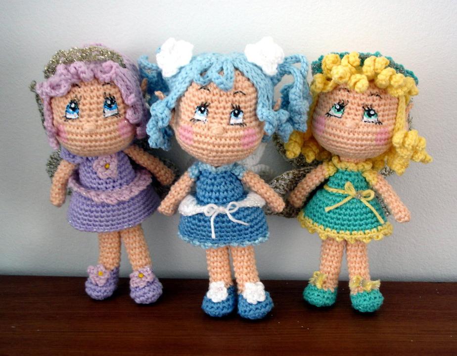 амигуруми куколка фея