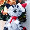 Схема для вязания крючком: Новогодний котик