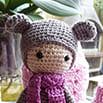 Схема для вязания крючком: медведь lalylala