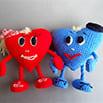 Схема для вязания крючком: Влюбленные сердца